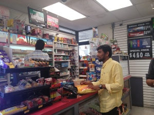A-State students from India purchase Indian groceries from Quick Trip. (photo by Myful Al Sarah)